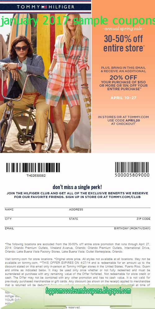 8e96d7b0 Free Promo Codes and Coupons 2019: Tommy Hilfiger Coupons