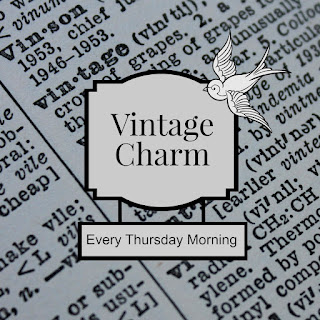 Vintage Charm is a vintage-themed link party where awesome thrifters and collectors link up each week with something new!