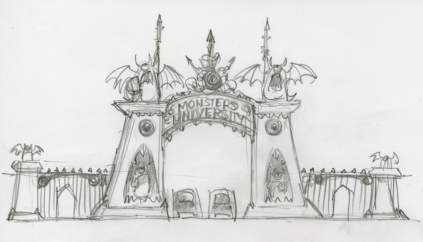 Beautiful New Monsters University Concept Art Pixar Post