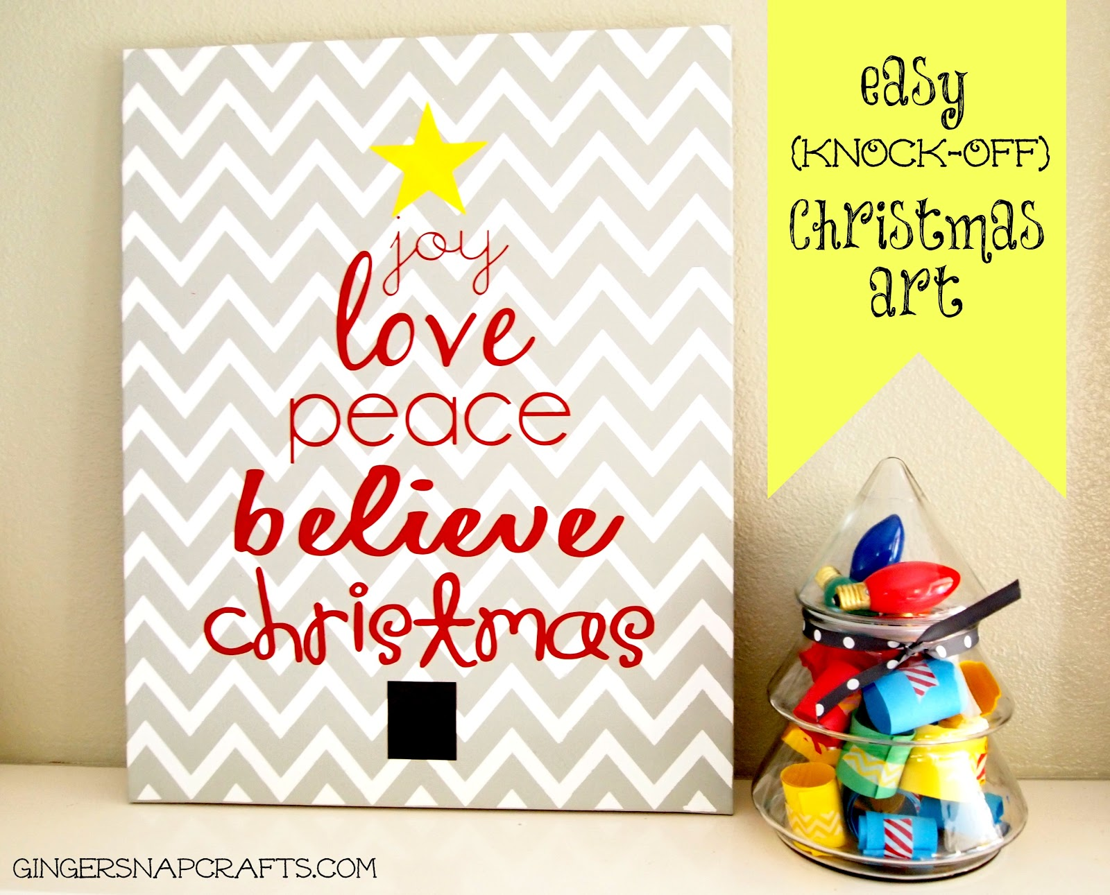Ginger Snap Crafts Easy Christmas Art