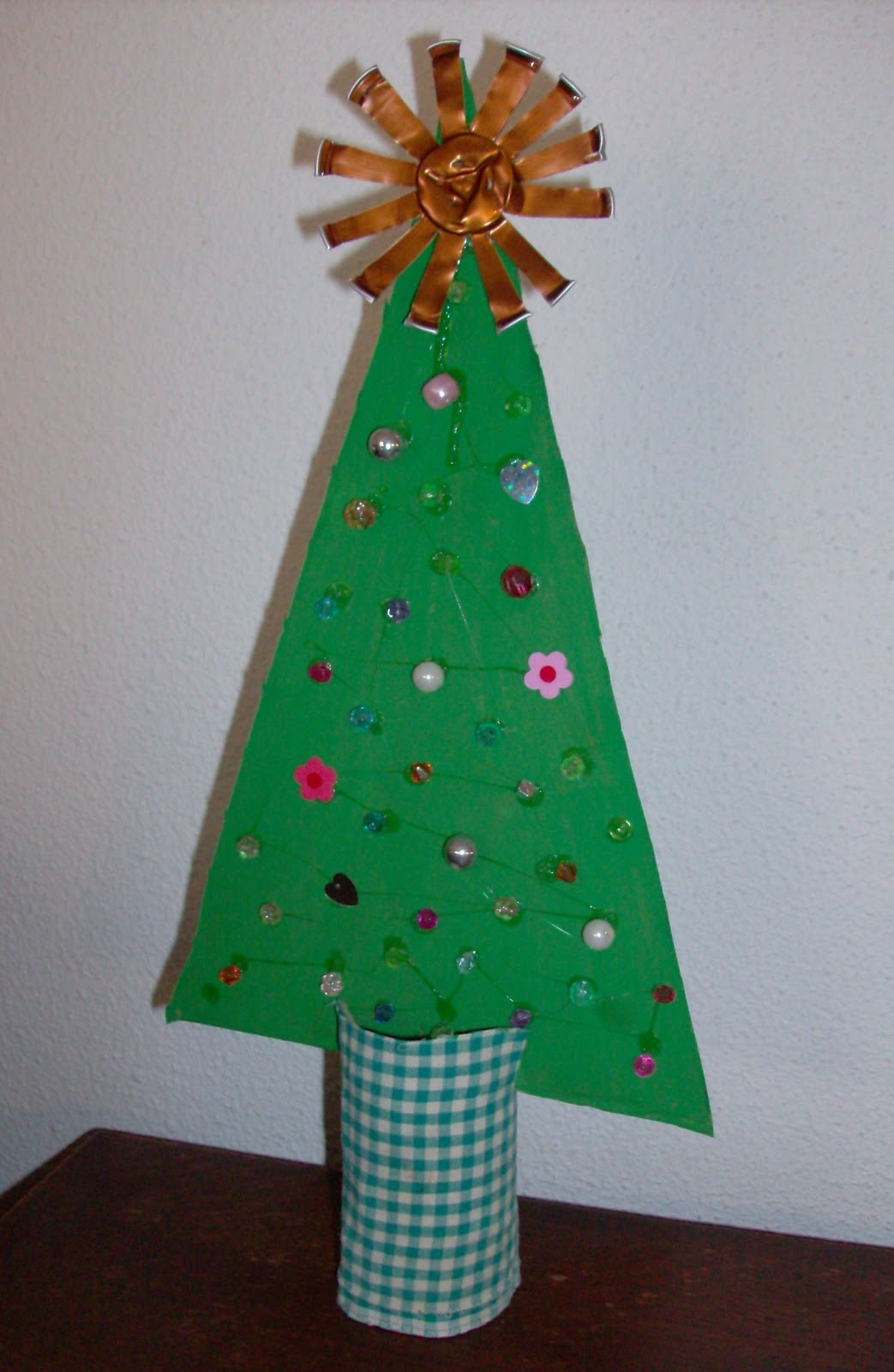 Christmas Tree Made Of Recycled Materials