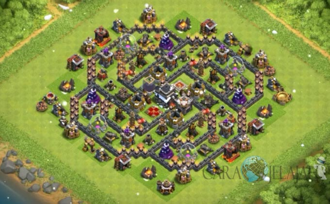 Base Trophy TH 9 COC Update Bomb Tower Terbaru 2017 Tipe 23