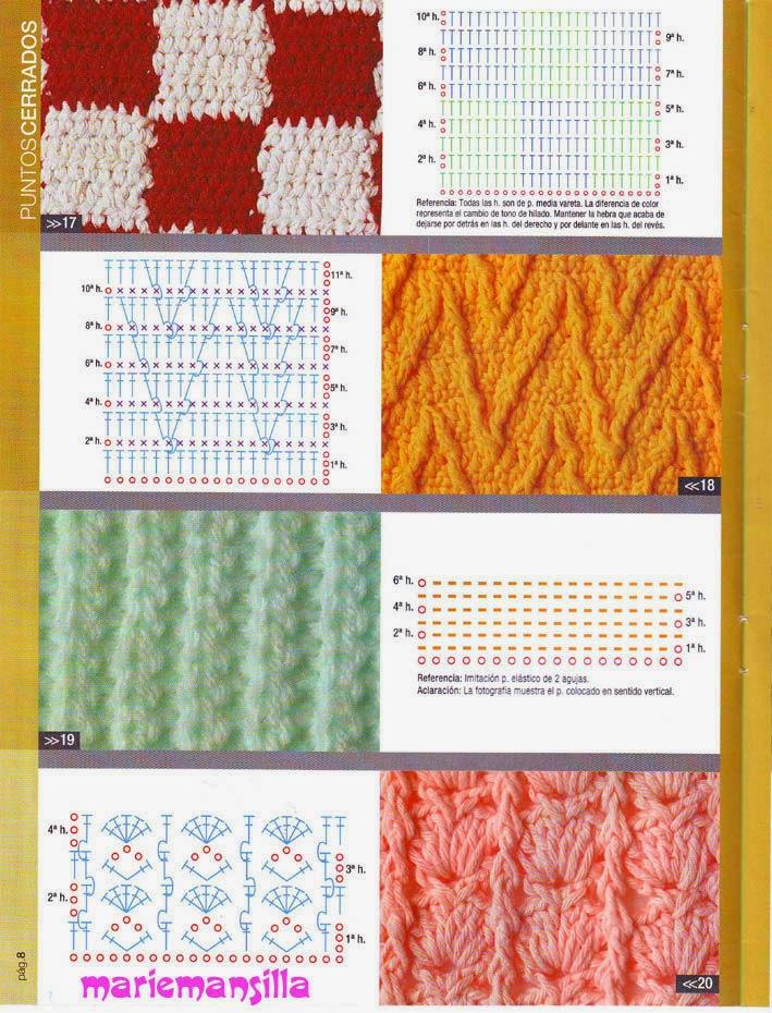 Puntos creativos al crochet con patrón | Crochet y Dos agujas ...