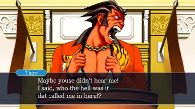Furio Tigre high definition Phoenix Wright Ace Attorney Trials & Tribulations courtroom