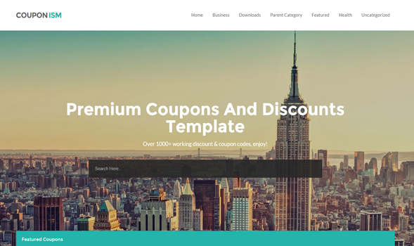 Top 10 Template Blog Responsif 3. Couponism