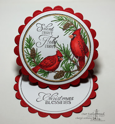 Cheryl Scrivens, Our Daily Bread Designs, Cardinal Ornament