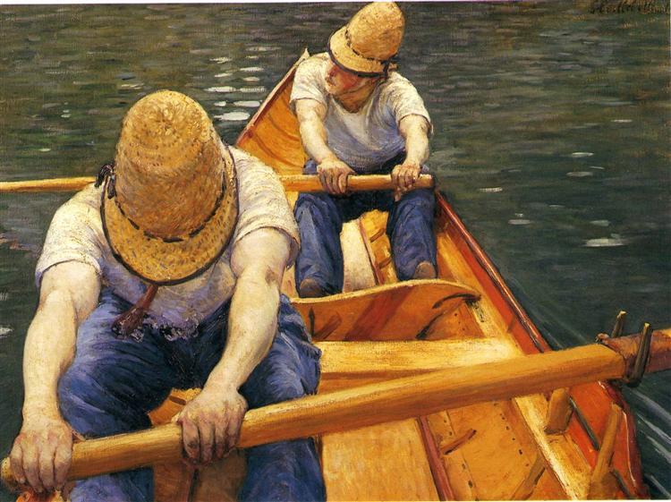 Gustave Caillebotte, das Leben, Veränderung, Kampf, Sehnsucht, Zukunft, Träume, Vertrauen, Gelassenheit, kämpfen, sich anstrengen, schweiß, ziele erreichen, wünsche verwirklichen, eigene Wege gehen, selbstbestimmen, fluss des lebens, painting, malerei, bild, poetische Art