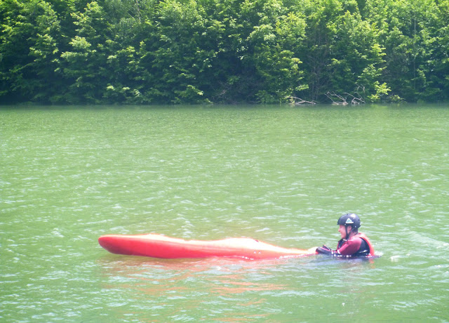 First day kayaking; Siriu Dam, Romania