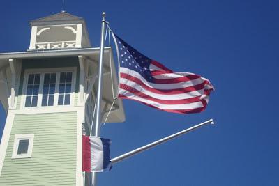 Bandeira americana em Disney Springs