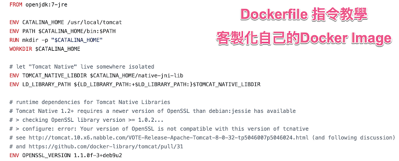 Docker - Dockerfile 指令教學,含範例解說