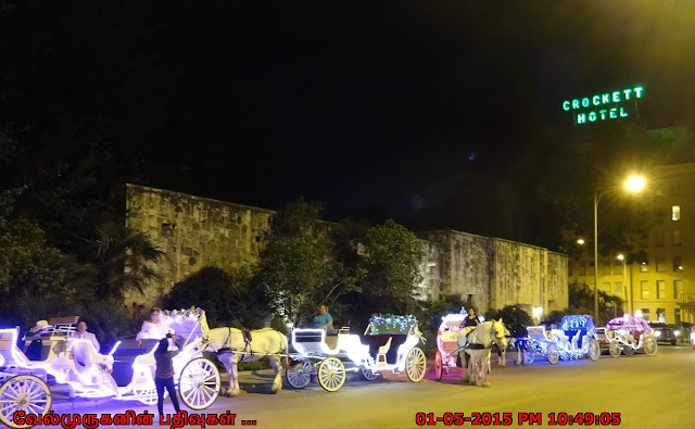San Antonio River Walk  horse drawn carriage ride