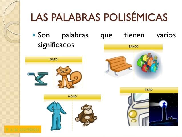 Resultado de imagen para palabras polisemicas