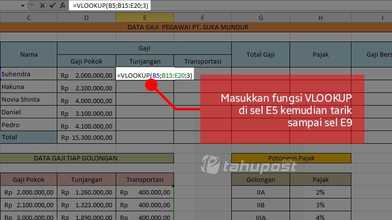 Cara Menghitung Gaji Bersih di Excel
