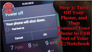 Mematikan atau Turn Off Ponsel HP Lenovo A319 Dual Sim Kit Kat