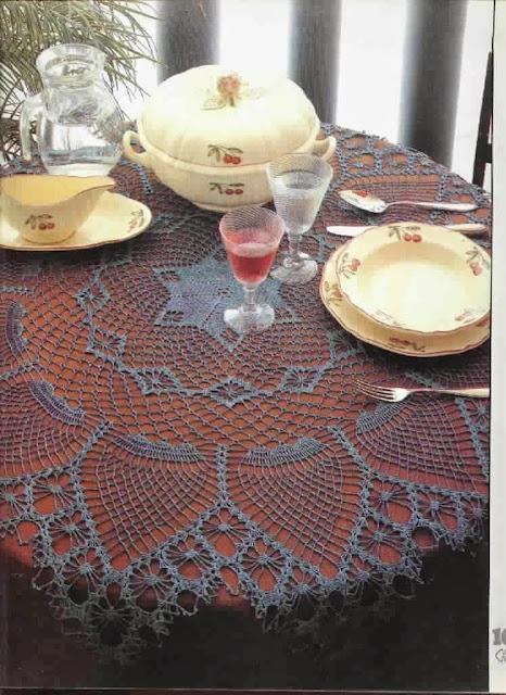 DIY - Toalha de Mesa de Crochê Com Gráfico Para Decorar Sua Casa