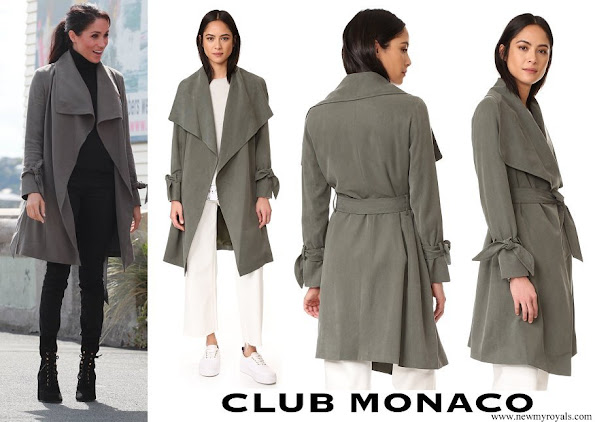 Meghan Markle wore Club Monaco Ellayne Trench Coat
