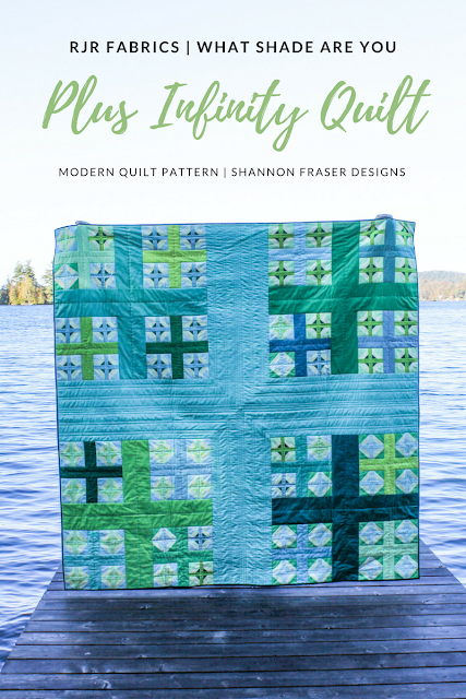 Plus Infinity Quilt | Modern Quilt Pattern | Shannon Fraser Designs | RJR Fabrics Cotton Supreme Solids | What Shade Are You |