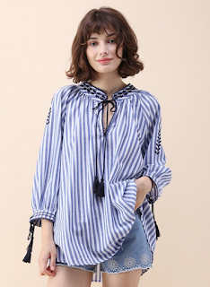 http://www.chicwish.com/feelin-boho-embroidered-striped-top-in-blue.html