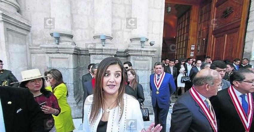 GRE Arequipa procederá a descuentos si no reinician labores el lunes 7 de agosto, advirtió la gobernadora regional Yamila Osorio