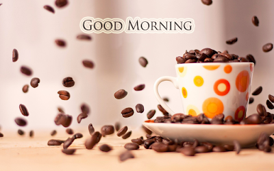 Good Morning Coffee Beans Free Wallpaper Download