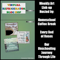 Virtual Refrigerator  - share your art posts on our Virtual Refrigerator - an art link-up hosted by Homeschool Coffee Break @ kympossibleblog.blogspot.com