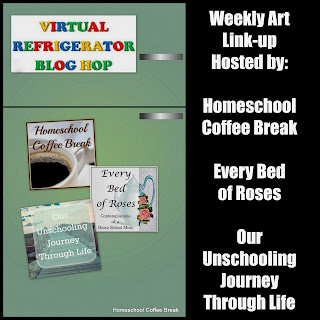 on the Virtual Refrigerator  - share your art posts on our Virtual Refrigerator - an art link-up hosted by Homeschool Coffee Break @ kympossibleblog.blogspot.com