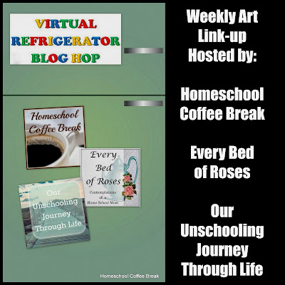 Coloring Frozen on the Virtual Refrigerator - an art link-up hosted by Homeschool Coffee Break @ kympossibleblog.blogspot.com