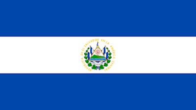 Logo Gambar Bendera Negara El Salvador PNG JPG ukuran 400 px