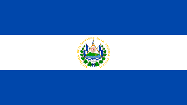 Logo Gambar Bendera Negara El Salvador PNG JPG ukuran 600 px