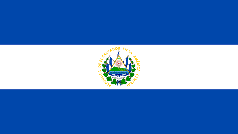 Logo Gambar Bendera Negara El Salvador PNG JPG ukuran 800 px