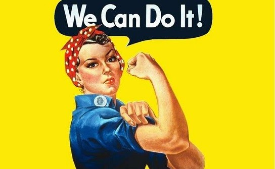 We Can Do It! - por J. Howard Miller, 1943.