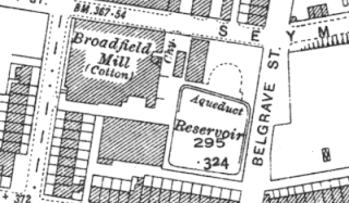 Broadfield Mill, OS map, 1937.