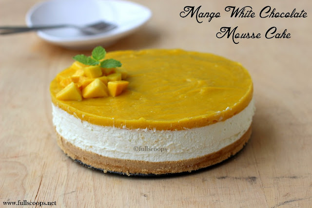 Mango Whie Chocolate Mousse Cake
