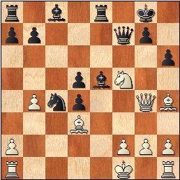 Lyon 1955: Partida de ajedrez Vesely - Prado, posición después de 22.Dg4