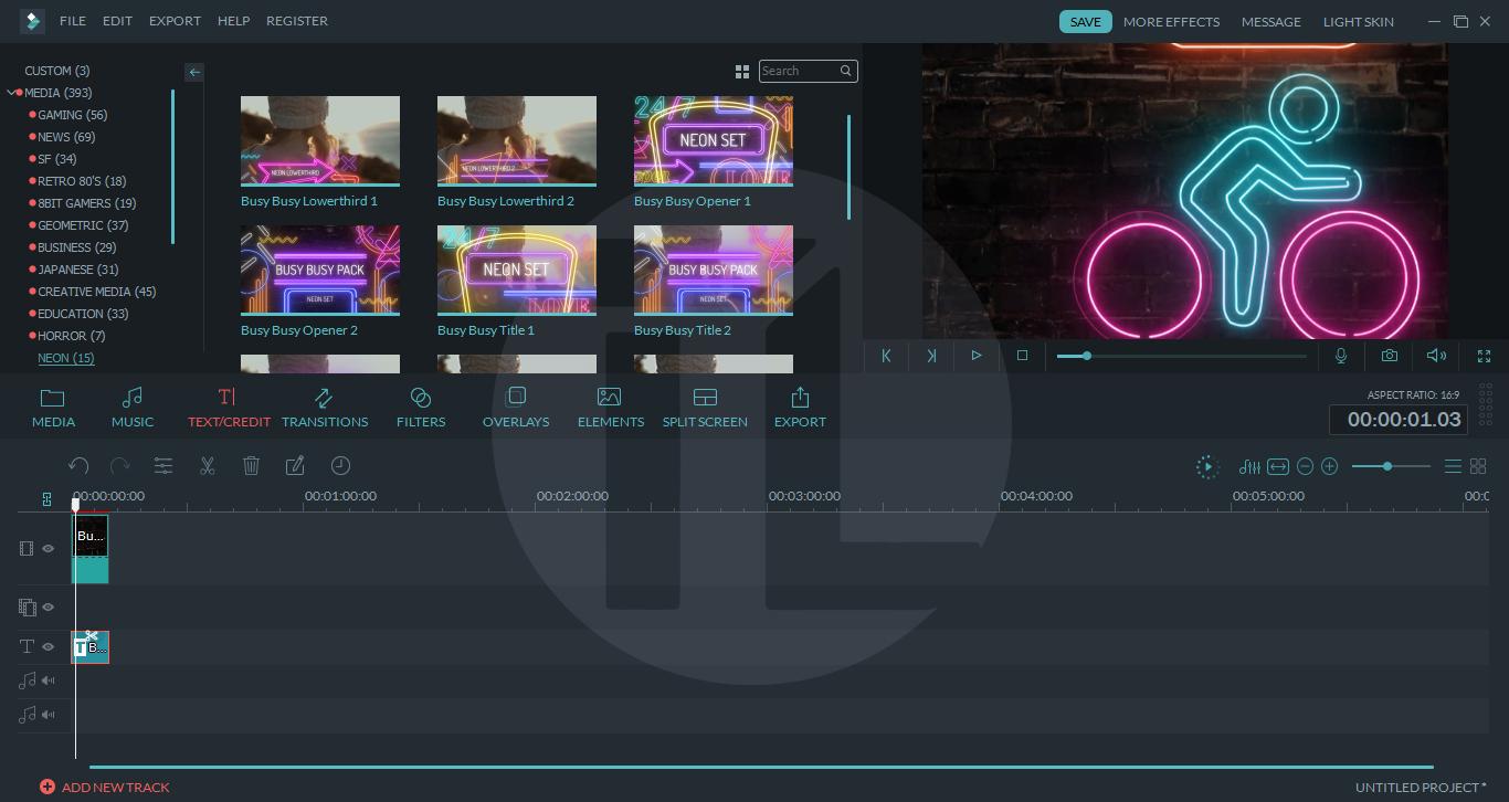 Wondershare Filmora Neon Set Effect Pack - Teknik Lyfe