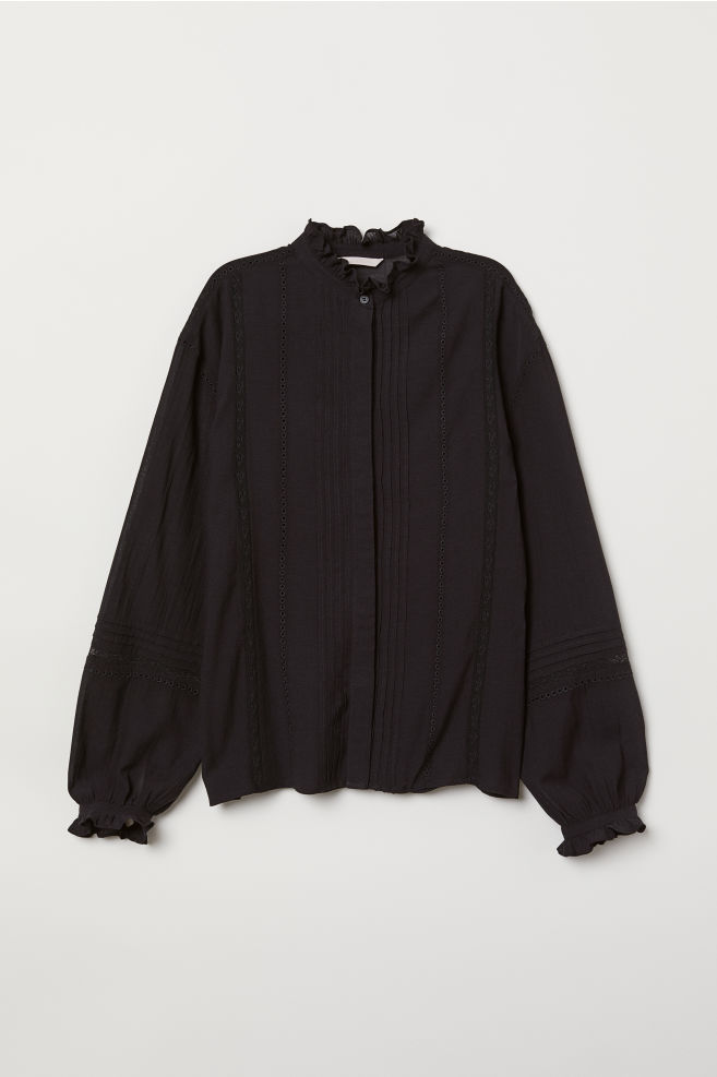 H&M Blouse with Pin Tucks