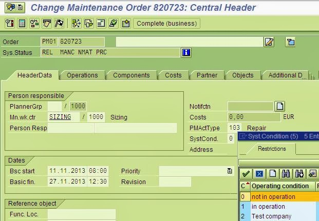 SAP PP  PM Integration in Capacity Planning » wwwmyscmhelp - work order table