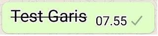 Membuat Tulisan Coret Bergaris Whatsapp
