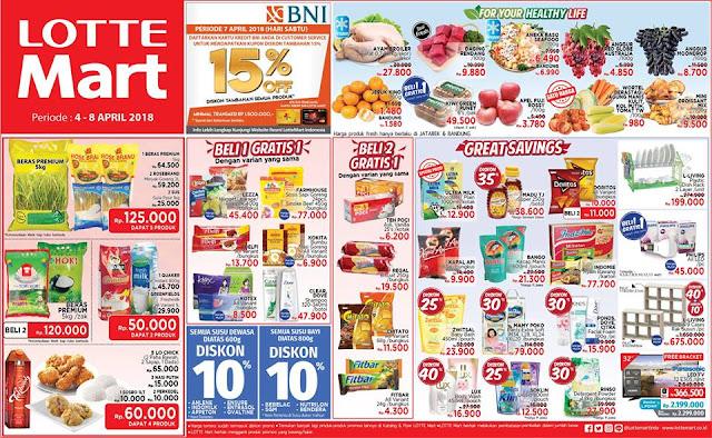Katalog Harga Promo LOTTEMART Hypermarket Akhir Pekan 04 - 08 April 2018