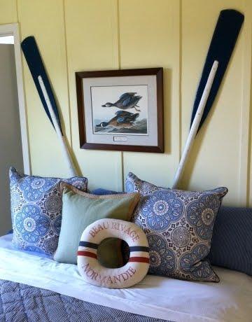 oar decor in bedroom