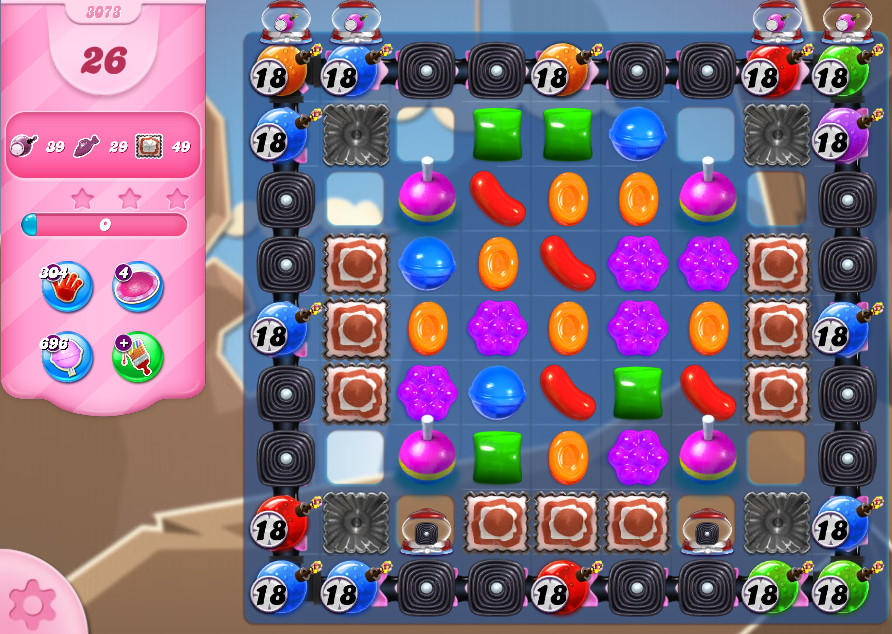 Candy Crush Saga level 3073