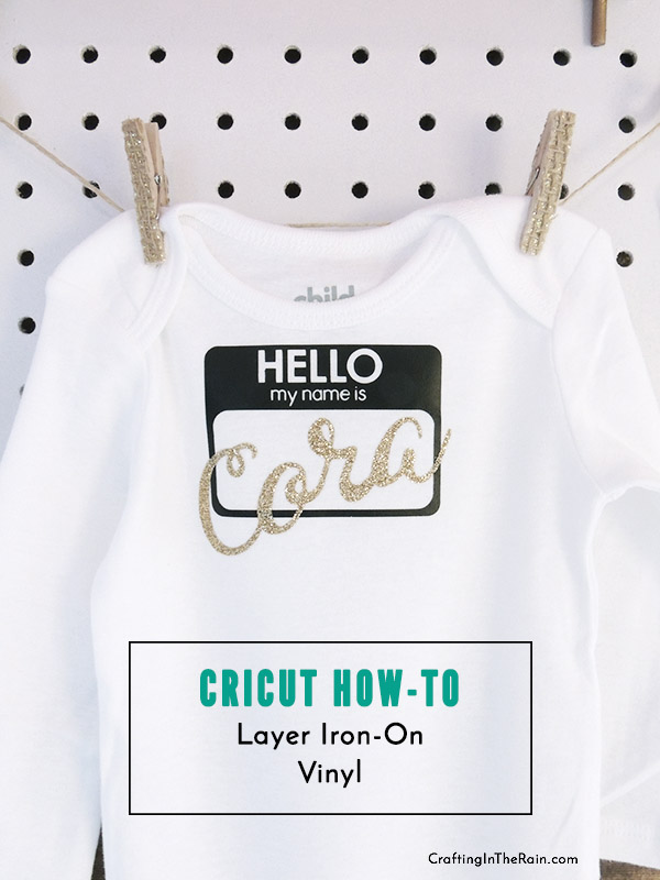 Custom Baby Onesies With Cricut Crafting In The Rain