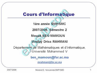 Cours d'Informatique SMPC