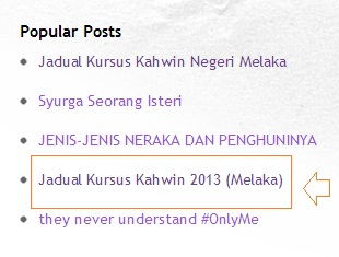 Kursus Kahwin Negeri Melaka 2012 vs 2013