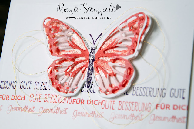 Stampin Up Thinlits Schmetterlinge Schmetterling Stempelset Watercolor Wings Schmetterlingsgruß