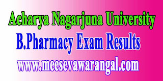 Acharya Nagarjuna University B.Pharmacy Supply Exam Results