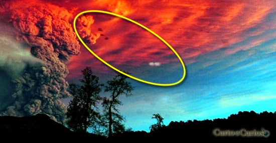 OVNI vulcão Calbuco no Chile