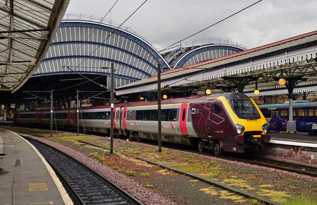 Trem na estação de York