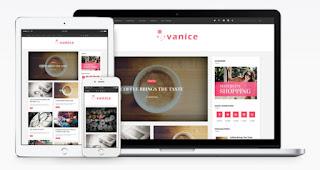 vanice blogger template