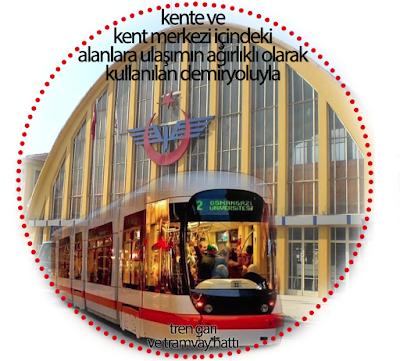 eskişehir yht, tren garı, estram, tramvay hattı